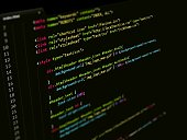 CSS Styling Code in text editor, Web page Internet Technology