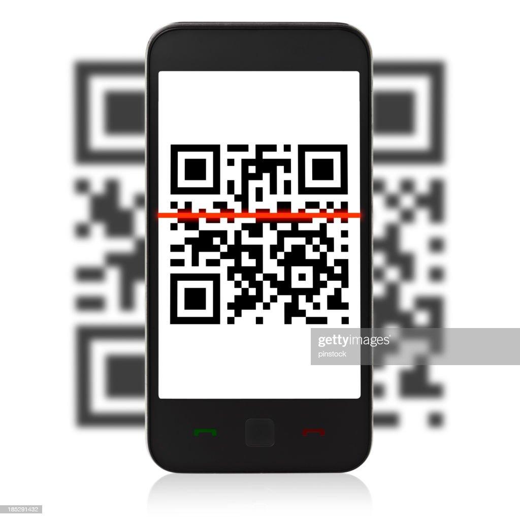 QR Code sur téléphone mobil : Photo