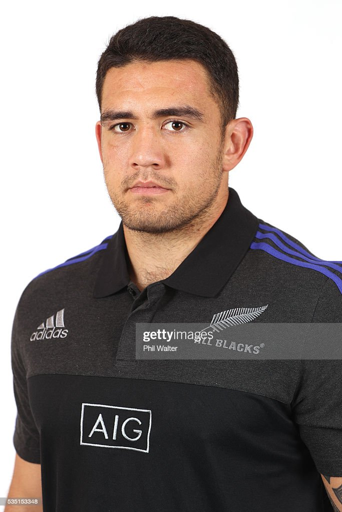 Codie Taylor of the All Blacks poses for a portrait during a New Zealand All Black portrait session on May 29, 2016 in Auckland, New Zealand.