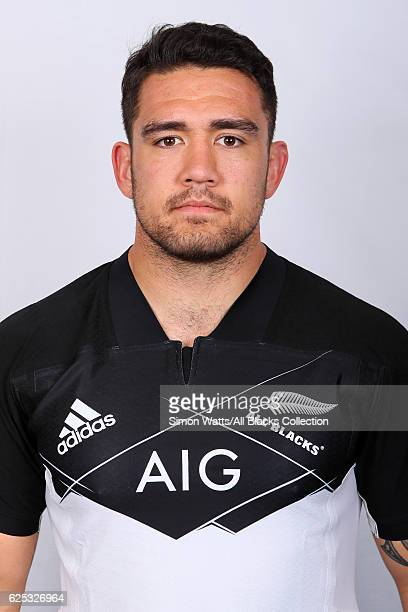 Codie Taylor poses during the All Blacks End of Year Tour 2016 Headshots Session at Auckland International Airport Novotel on October 28 2016 in...