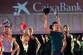 ESP: Antonio Banderas Presents 'Chorus Line' At Soho Caixabank Theater