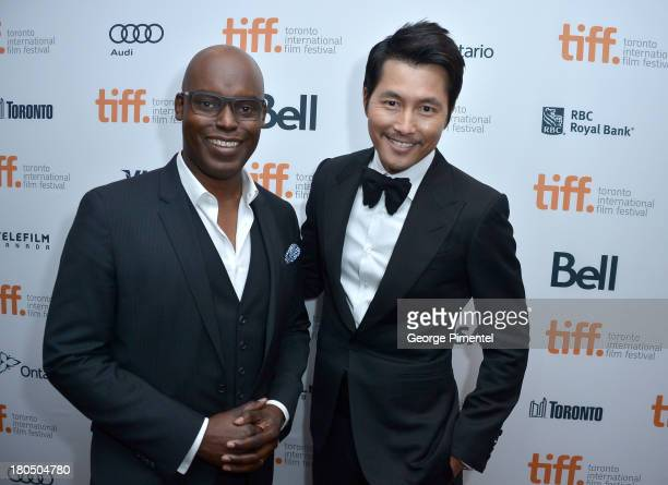 CoDirector Cameron Bailey and actor Woosung Jung attend the 'Cold Eyes' premiere during the 2013 Toronto International Film Festival at Roy Thomson...