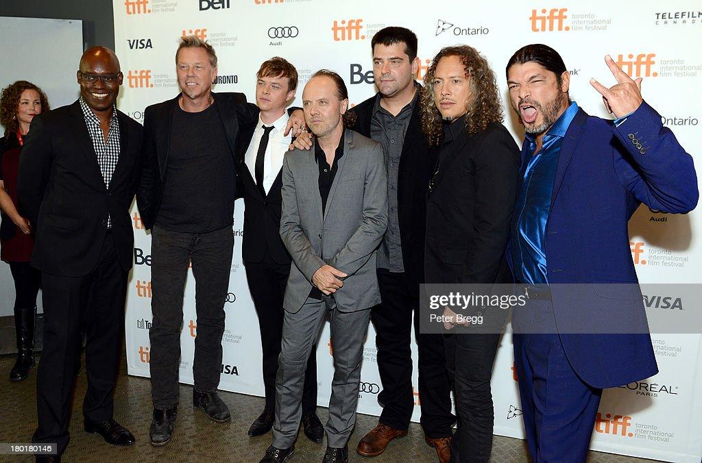 TIFF CoDirector Cameron Bailey Musician James Hetfield actor Dane DeHaan musician Lars Ulrich director Nimród Antal musician Kirk Hammett and...