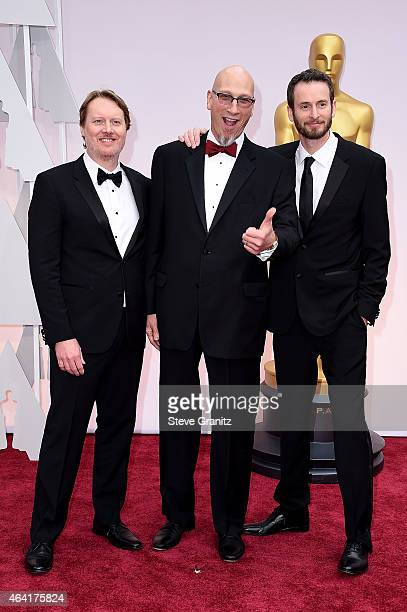 Codirector Don Hall producer Roy Conli and codirector Chris Williams attend the 87th Annual Academy Awards at Hollywood Highland Center on February...