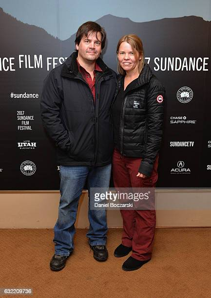 CoDirector Jef Sewell and Director Laura Dunn attends Look And See A Portrait Of Wendell Berry' Premiere during 2017 Sundance Film Festival at...