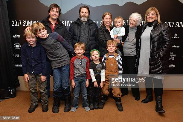 CoDirector Jef Sewell Executive Producer Nick Offerman Director Laura Dunn Mary Berry Tanya Berry and the Sewell children attend Look And See A...
