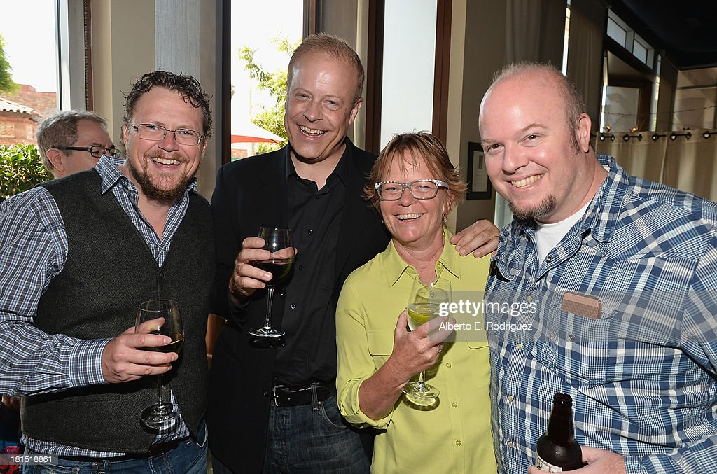Co-director Kris Pearn, producers Kirk Bodyfelt, Pam Marsden and co-director Cody Cameron attend the after party for the premiere of Columbia Pictures and Sony Pictures Animation's 'Cloudy With A Chance Of Meatballs 2' at The Napa Valley Grille on September 21, 2013 in Westwood, California.