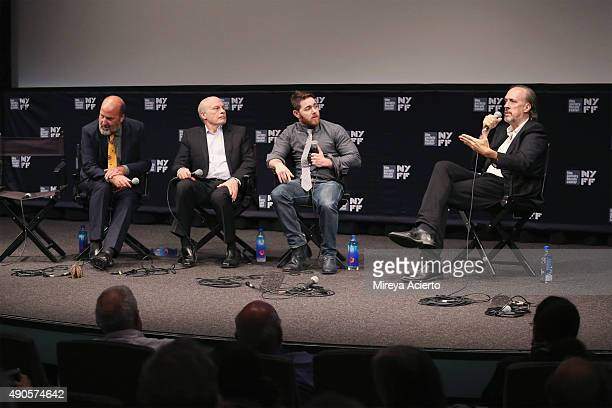CoDirector Nick Hooker editor Bob Eisenhardt director Jacob Bernstein and film writer Kent Jones speak at 'Everything Is Copy' Q A during 53rd New...