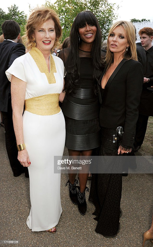 Co-director of the Serpentine Gallery Julia Peyton-Jones, Naomi Campbell and Kate Moss attend the annual Serpentine Gallery Summer Party co-hosted by L'Wren Scott at The Serpentine Gallery on June 26, 2013 in London, England.