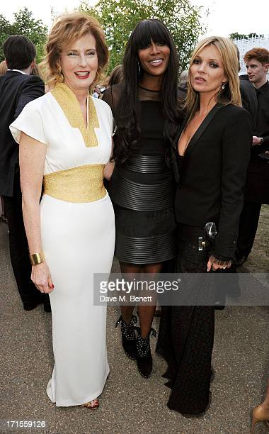 Codirector of the Serpentine Gallery Julia PeytonJones Naomi Campbell and Kate Moss attend the annual Serpentine Gallery Summer Party cohosted by...