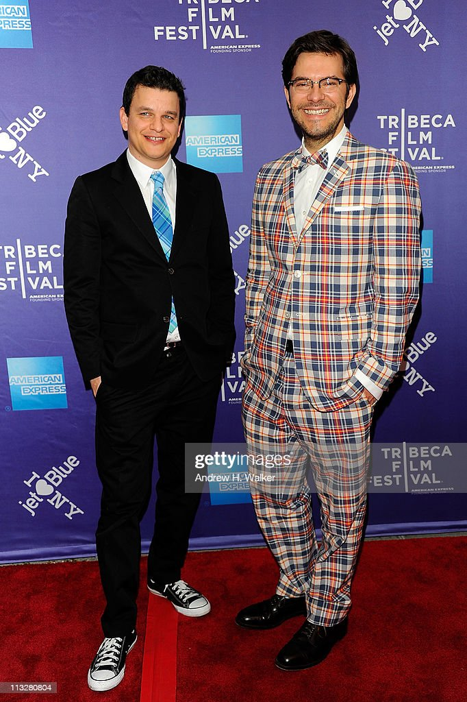 Co-director/co-writer Alex Gregory (L) and co-director/co-writer Peter Huyck attend the premiere of 'A Good Old Fashioned Orgy' during the 2011 Tribeca Film Festival at SVA Theater on April 29, 2011 in New York City.