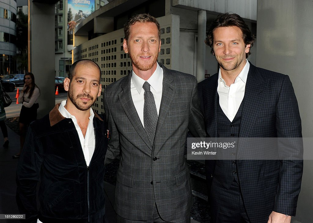 Co-directors Lee Sternthal, Brain Klugman and actor <a gi-track='captionPersonalityLinkClicked' href=/galleries/search?phrase=Bradley+Cooper&family=editorial&specificpeople=680224 ng-click='$event.stopPropagation()'>Bradley Cooper</a> arrive at the premiere of CBS Films' 'The Words' at the Arclight Theatre on September 4, 2012 in Los Angeles, California.