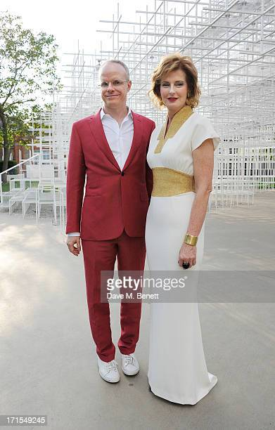 Codirectors of the Serpentine Gallery Hans UlrichObrist and Julia PeytonJones attend the annual Serpentine Gallery Summer Party cohosted by L'Wren...