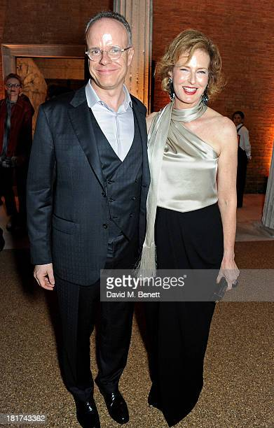 CoDirectors of The Serpentine Gallery HansUlrich Obrist and Julia PeytonJones attend a donors dinner hosted by Michael Bloomberg Graydon Carter to...