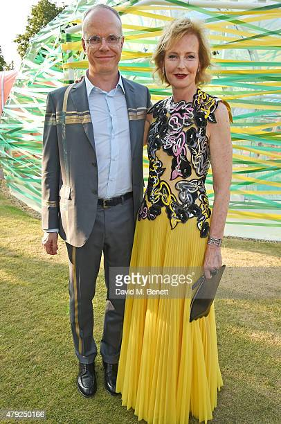 CoDirectors of the Serpentine Gallery HansUlrich Obrist and Julia PeytonJones attend The Serpentine Gallery summer party at The Serpentine Gallery on...