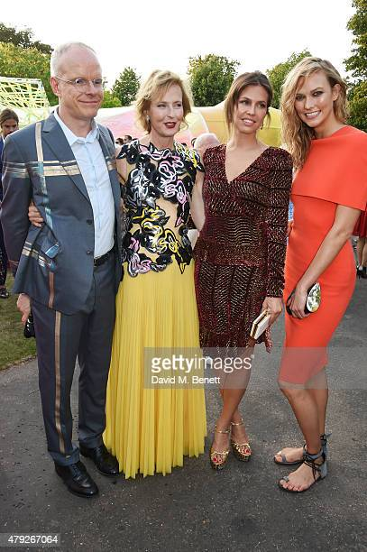 CoDirectors of the Serpentine Gallery HansUlrich Obrist and Julia PeytonJones Dasha Zhukova and Karlie Kloss attend The Serpentine Gallery summer...
