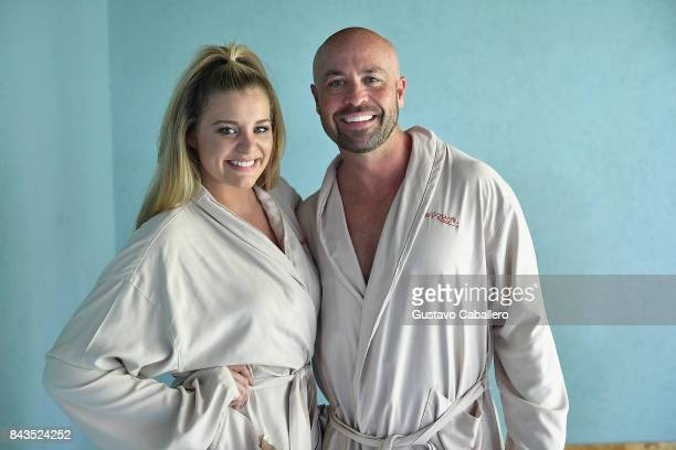 Cody Alan and Lauren Alaina enjoy a Spa Treatment from Red Lane Spa at Latitudes for Story Behind The Songs LIV Concert Event At Sandals South Coast...