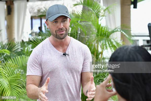 Cody Alan attends the Jerk Chicken Cooking at the Story Behind The Songs LIV Concert Event At Sandals South Coast on September 5 2017 in Whitehouse...