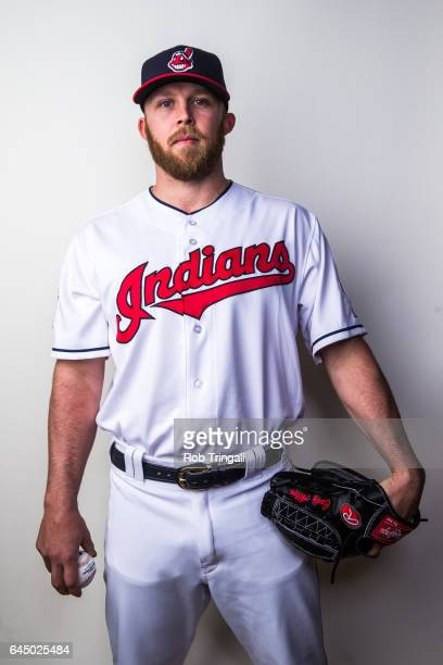 Cody Allen of the Cleveland Indians poses for a portrait during Indians Photo Day at the Goodyear Sports Complex on February 24 2017 in Goodyear...