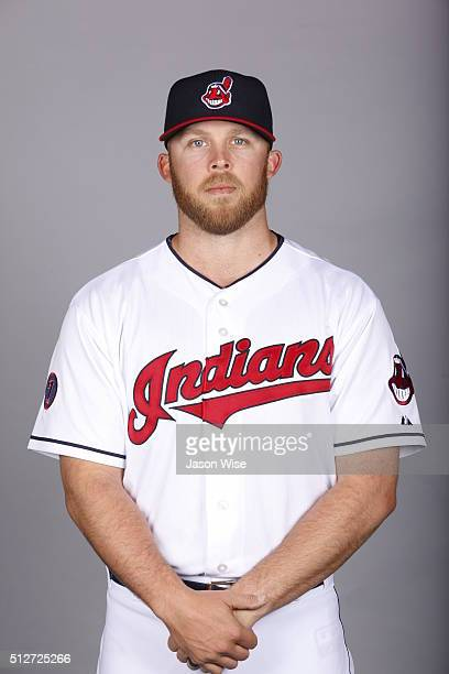 Cody Allen of the Indians poses during Photo Day on Saturday February 27 2016 at Goodyear Ballpark in Goodyear Arizona