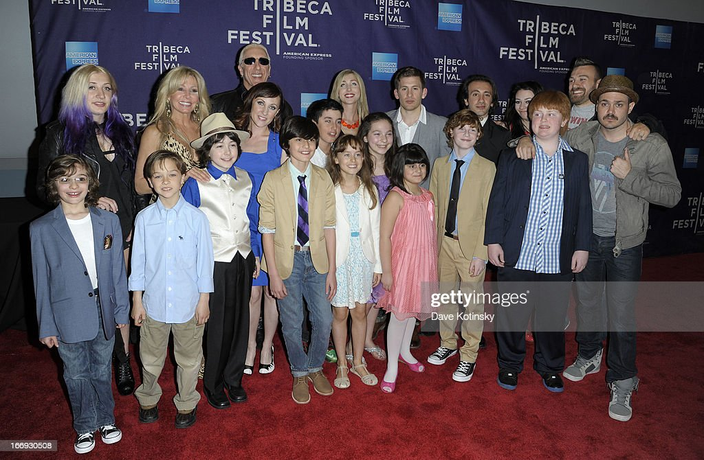 Cody Blue Snider, Dee Snider, Suzette Snider, Shane Snider and Mitchell Jarvis pose with actors at the 'Fool's Day' Shorts Program during the 2013 Tribeca Film Festival on April 18, 2013 in New York City.