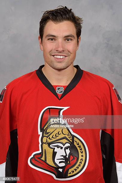 Cody Ceci of the Ottawa Senators poses for his official headshot for the 20152016 season on September 17 2015 at Canadian Tire Centre in Ottawa...