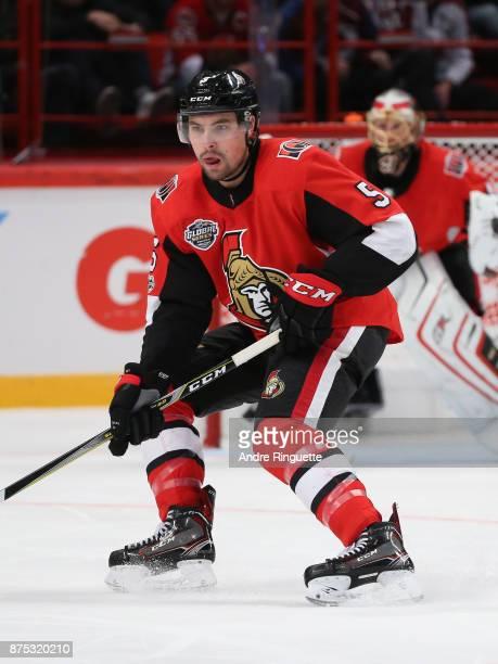 Cody Ceci of the Ottawa Senators skates against the Colorado Avalanche at Ericsson Globe on November 11 2017 in Stockholm Sweden