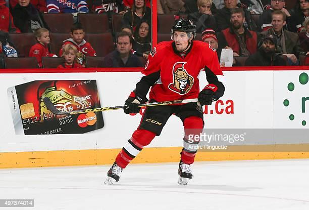 Cody Ceci of the Ottawa Senators skates against the New York Rangers at Canadian Tire Centre on November 14 2015 in Ottawa Ontario Canada