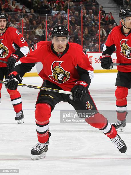 Cody Ceci of the Ottawa Senators skates against the Winnipeg Jets at Canadian Tire Centre on November 8 2014 in Ottawa Ontario Canada