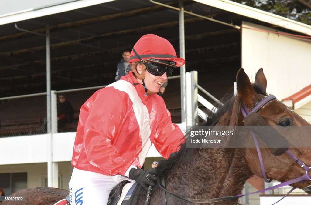 Cody Collins after winning the Bet365 Coleraine Cup 24th Sept BM64 Handicap at Coleraine Racecourse on August 12, 2017 in Coleraine, Australia.
