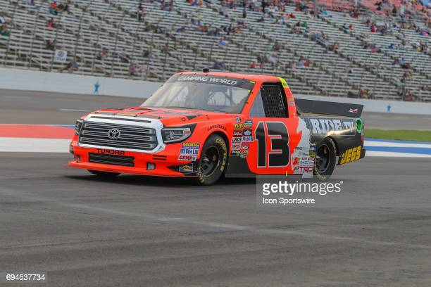 Cody Coughlin leaves pit road during the 2017 winstaronlinegamingcom 400 in the NASCAR Camping World Truck Series on June 9 2017 at Texas Motor...