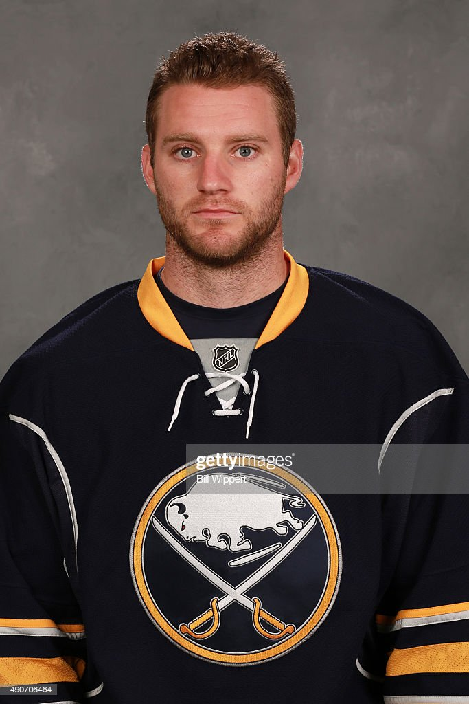 <a gi-track='captionPersonalityLinkClicked' href=/galleries/search?phrase=Cody+Franson&family=editorial&specificpeople=2125769 ng-click='$event.stopPropagation()'>Cody Franson</a> of the Buffalo Sabres poses for his official headshot for the 2015-2016 season on September 17, 2015 at the First Niagara Center in Buffalo, New York.