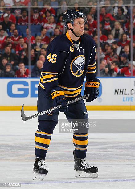 Cody Franson of the Buffalo Sabres skates against the Montreal Canadiens during an NHL game on October 23 2015 at the First Niagara Center in Buffalo...