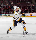 Cody Franson of the Nashville Predators skates against the New Jersey Devils at the Prudential Center on March 3 2015 in Newark New Jersey The Devils...