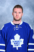 Cody Franson of the Toronto Maple Leafs poses for his official headshot for the 20142015 season on September 18 2014 at the Mastercard Centre in...