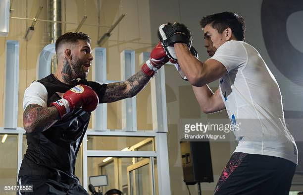Cody Garbrandt holds an open workout for the fans and media at the Las Vegas HarleyDavidson on May 27 2016 in Las Vegas Nevada
