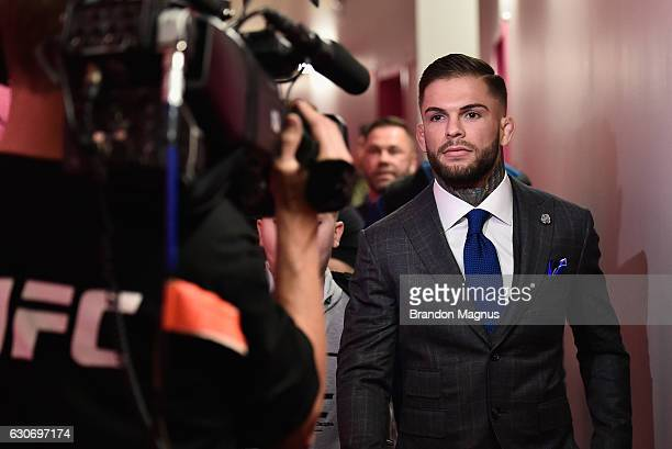 Cody Garbrandt walks into the arena during the UFC 207 event at TMobile Arena on December 30 2016 in Las Vegas Nevada