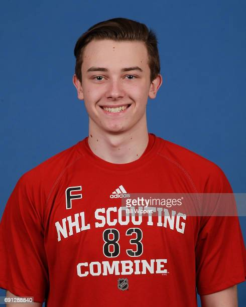 Cody Glass poses for a headshot at the NHL Combine at HarborCenter on June 1 2017 in Buffalo New York