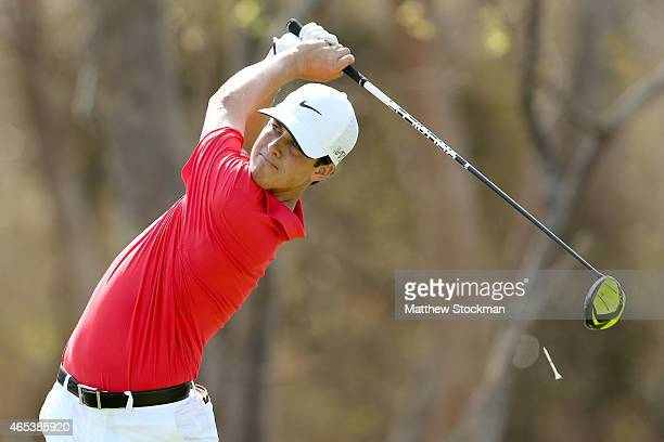 Cody Gribble of the United States hits off the 2nd tee during the second round of the Cartagena de Indias at Karibana Championship at the TPC...