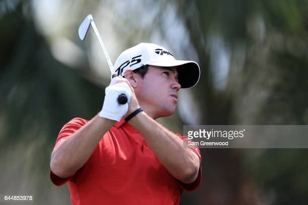 Cody Gribble of the United States plays a shot during the first round of The Honda Classic at PGA National Resort and Spa on February 23 2017 in Palm...