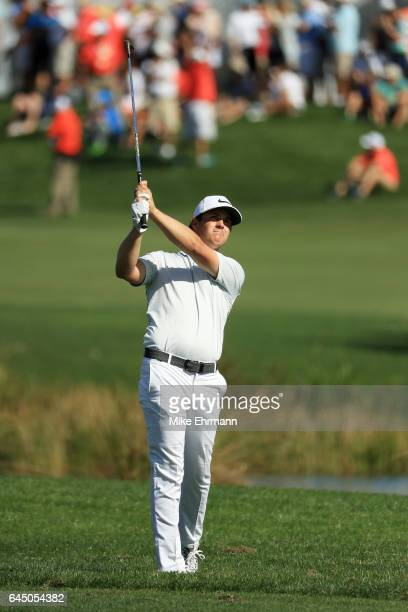 Cody Gribble of the United States plays a shot on the first hole during the second round of The Honda Classic at PGA National Resort and Spa on...