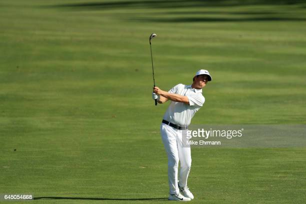 Cody Gribble of the United States plays a shot on the second hole during the second round of The Honda Classic at PGA National Resort and Spa on...