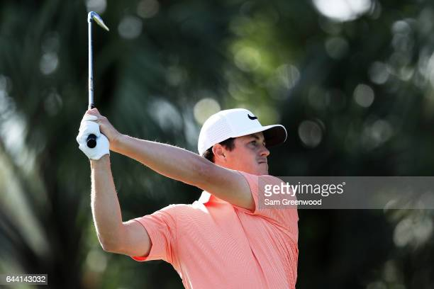 Cody Gribble of the United States plays a shot on the seventh hole during the first round of The Honda Classic at PGA National Resort and Spa on...