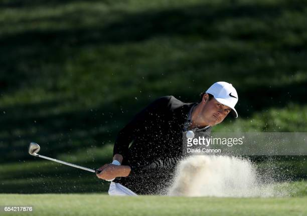 Cody Gribble of the United States plays his third shot on the par 5 sixth hole during the first round of the 2017 Arnold Palmer Invitational...