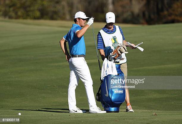 Cody Gribble prepares to play his shot on the 16th hole during the Final Round of the Sanderson Farms Championship at the Country Club of Jackson on...