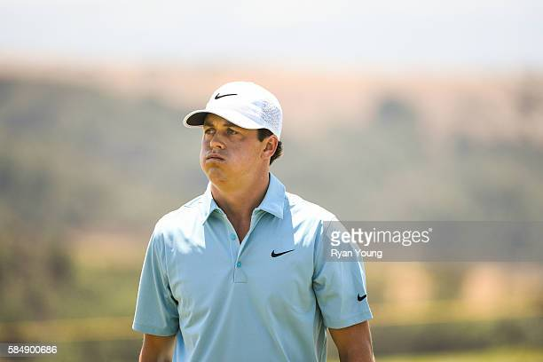 Cody Gribble walks off the eighth hole during the final round of the Webcom Tour Ellie Mae Classic at TPC Stonebrae on July 31 2016 in Hayward...