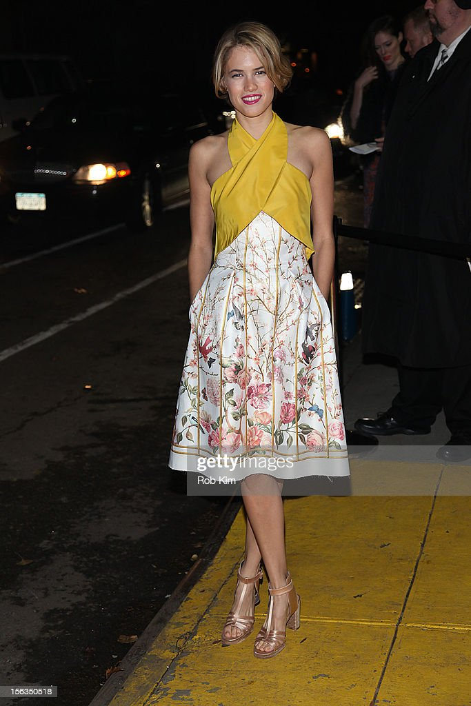 Cody Horn arrives at The Ninth Annual CFDA/Vogue Fashion Fund Awards at 548 West 22nd Street on November 13, 2012 in New York City.