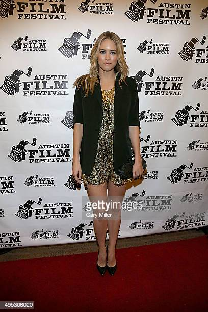 Cody Horn attends the world premiere of the new film 'Burning Bohdi' at Paramount Theatre on November 1 2015 in Austin Texas