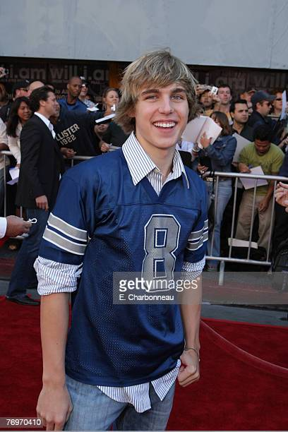 Cody Linley at the World Premiere of Walt Disney Pictures' 'The Game Plan' at the El Capitan Theatre on September 23 2007 in Hollywood California