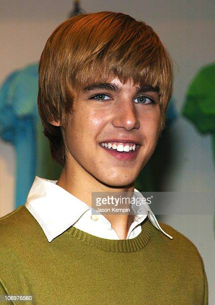 Cody Linley during Brie Larson And Cody Linley From The Movie 'Hoot' Apearance At Macy's In New York City at Macy's in New York City New York United...